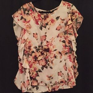 Bobeau Nordstrom satin blouse XL